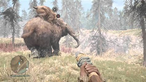 Far Cry Primal: Saber-toothed cat vs Young Woolly Mammoth