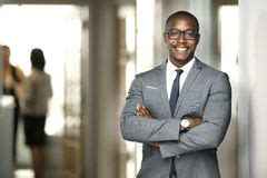 Handsome African Young Man Standing Looking Up Smiling Silhouett Stock Image - Image