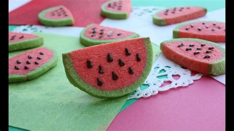 How to Make Watermelon cookies スイカクッキー Recipe レシピ - YouTube