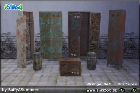 Blackys Sims 4 Zoo - Grunge Set - Surfaces by